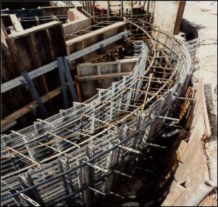 R曲面部施工例